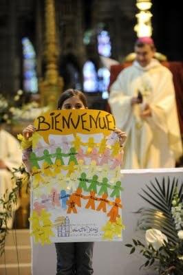 Bienvenue des enfants du diocèse