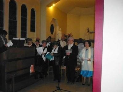 Janick notre organiste et notre Chorale
