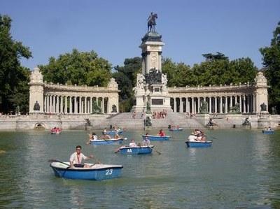 Avant la messe d'ouverture à Madrid
