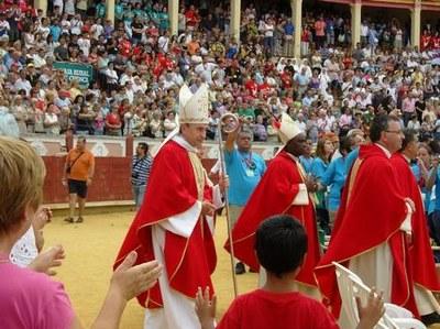 Messe dans les arènes avec tout le diocèse de Cuenca