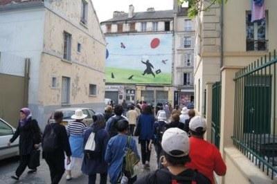 Dans les rues de Saint-Denis...