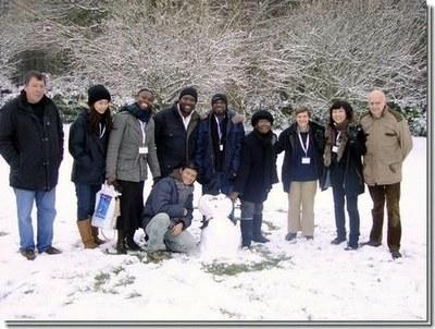 Le groupe sous la neige