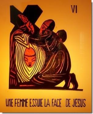 Le voile romain de Véronique est entré sur le chemin de la croix de Jésus, au douzième siècle...